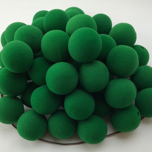 Dark Green Premium Foam Clown Nose 2