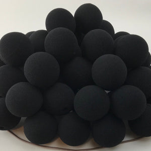 "Black Premium Foam Clown Nose 2"" JCN3002-BLACK. Sold in bags of 50. CLICK FOR DISCOUNT PRICING: from $.77 to $.60 per nose."