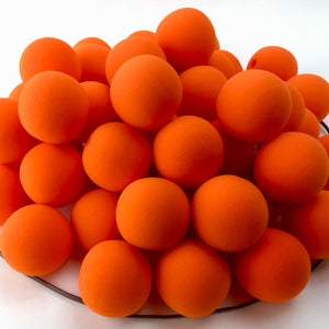 "Orange Premium Foam Clown Nose 2"" JCN3002-ORANGE. Sold in bags of 50. CLICK FOR DISCOUNT PRICING: from $.77 to $.60 per nose."