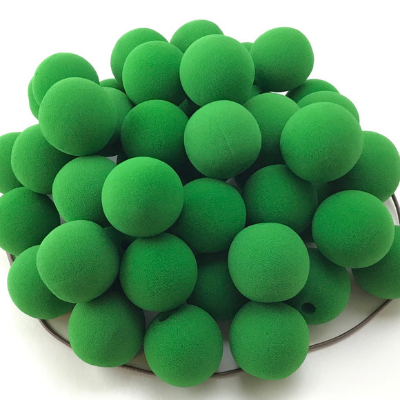 Bright Green Premium Foam Clown Nose 2