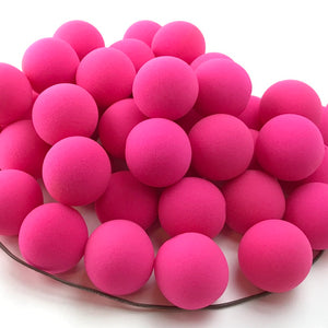 "Pink Premium Foam Clown Nose 2"" JCN3002-PINK. Sold in bags of 50. CLICK FOR DISCOUNT PRICING: from $.77 to $.60 per nose."