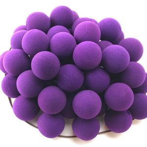 "Purple Premium Foam Clown Nose 1.5"" JCN3015-PURPLE. Sold in bags of 50. CLICK FOR DISCOUNT PRICING: from $.74 to $.58 per nose."