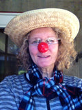 Roundo Clown Nose JCN5003-RED Sold in bags of 10. CLICK FOR DISCOUNT PRICING: from $4.25 to $3.25 per nose.