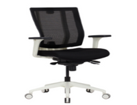 Package C - L-Shape Adjustable Desk, Chair, Dual Monitor Arm, Storage, & Desktop Power Unit