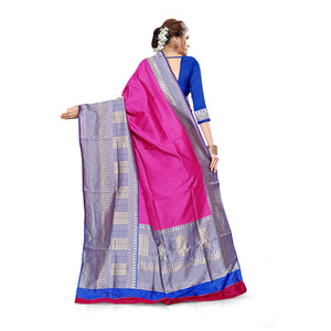 Xoofi fashion - Solid Jacquard Saree