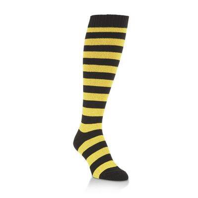 Black & Gold Rugby Stripe Over-the-Calf Socks