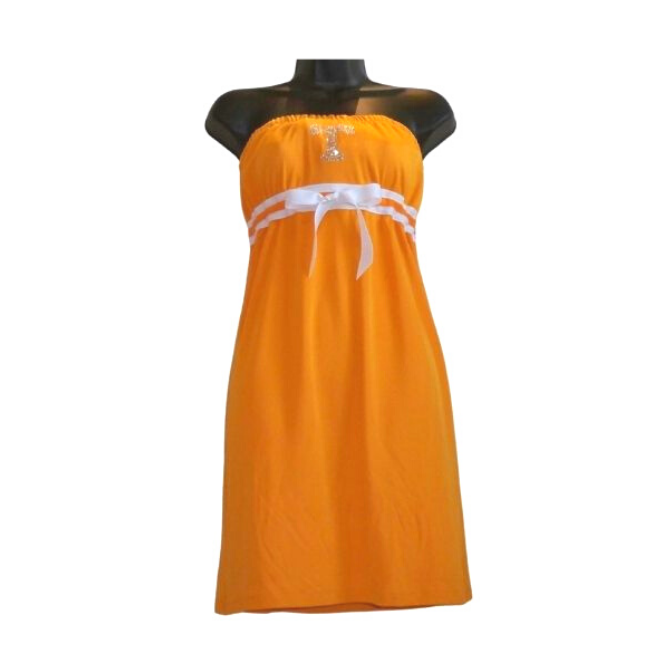 University of Tennessee Logo Solid Strapless Dress