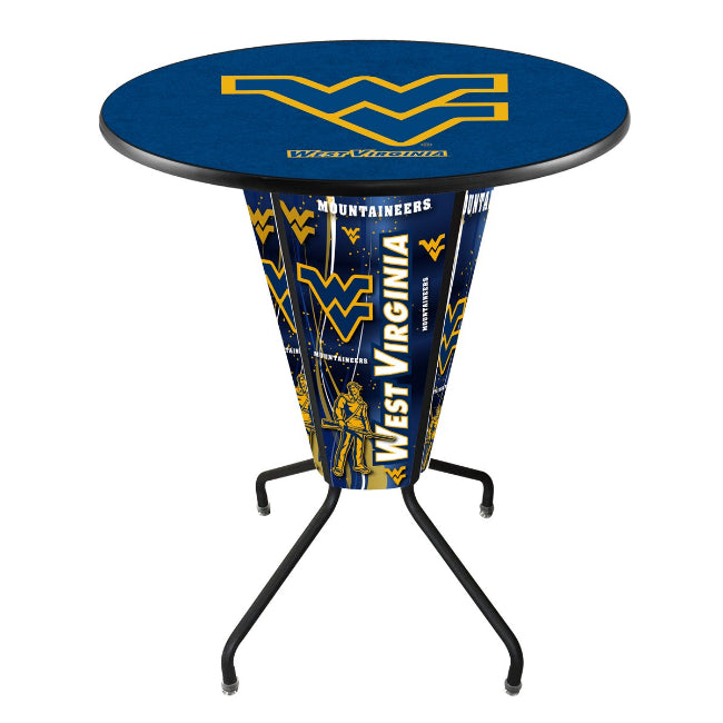 West Virginia University Logo Lighted LED Table