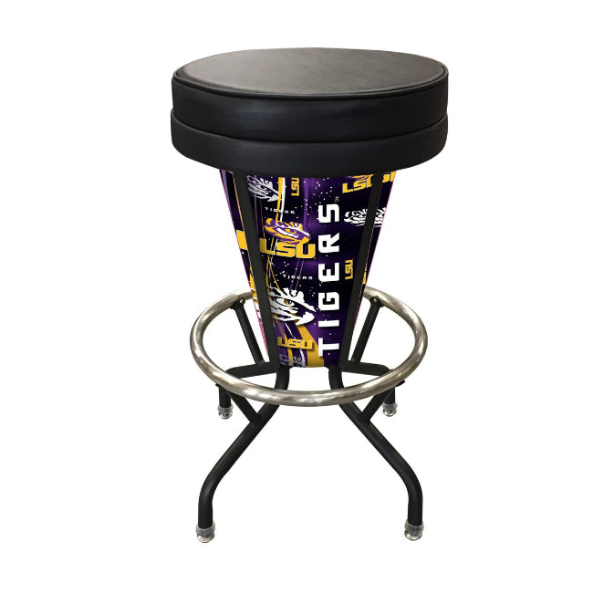 LSU Lighted LED Bar Stool