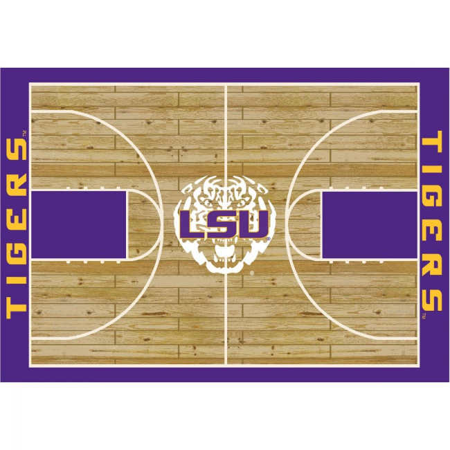LSU 8'x11' Courtside Rug
