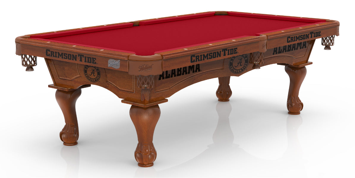 University of Alabama Pool Table with Plain Cloth