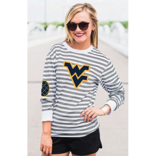West Virginia University Striped Elbow Patch