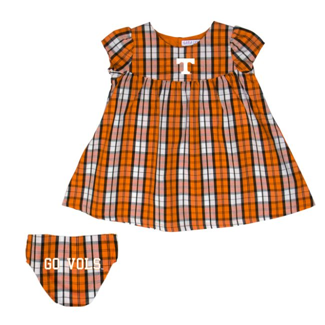 University of Tennessee Campus Plaid  Dress with Bloomers