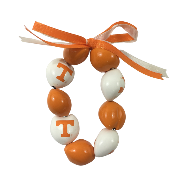 University of Tennessee Kukui Nut Bracelet