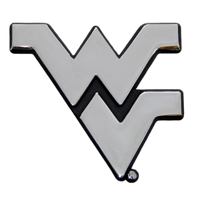 West Virginia University Chrome Auto Emblem