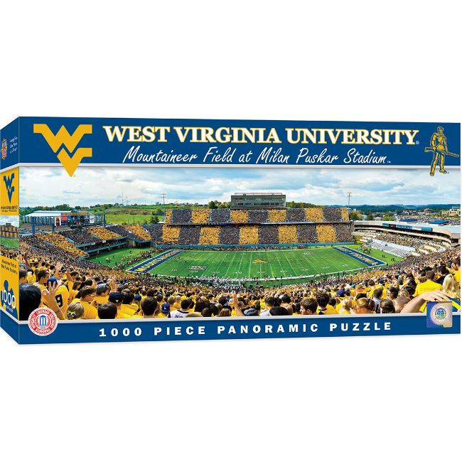 West Virginia University Mountaineer Field at Milan Puskar Stadium Panoramic Stadium 1000 Piece Puzzle