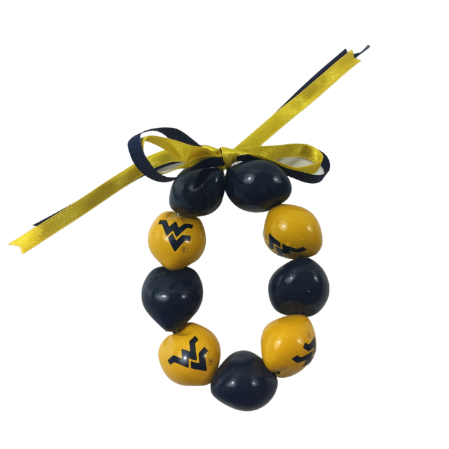 West Virginia University Kukui Nut Bracelet