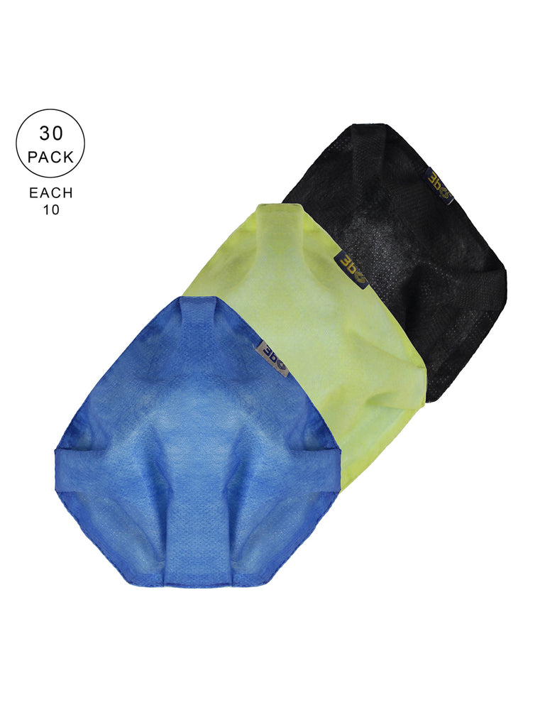 3bO Deltoid Air reusable face masks in Blue, Yellow and Black - Pack of 30 - Size L
