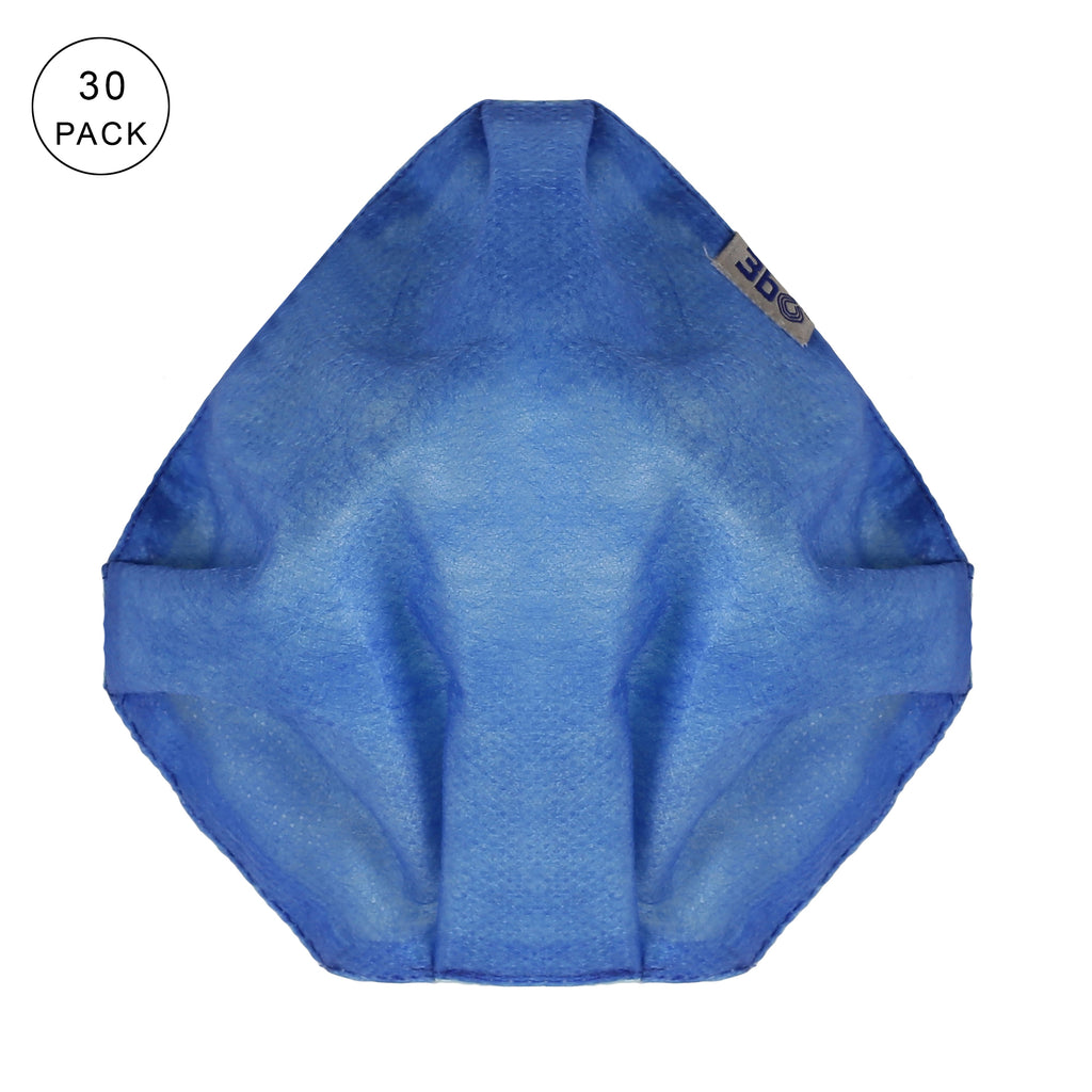 3bO Deltoid Air reusable face masks in Blue - Pack of 30 - Size L