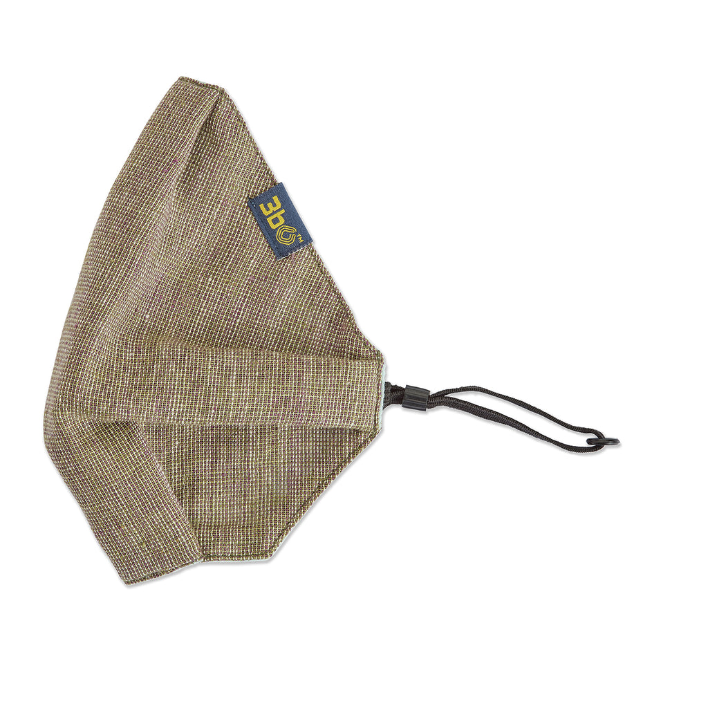 3bO Khadi face mask in Olive melange fabric - Pack of 1