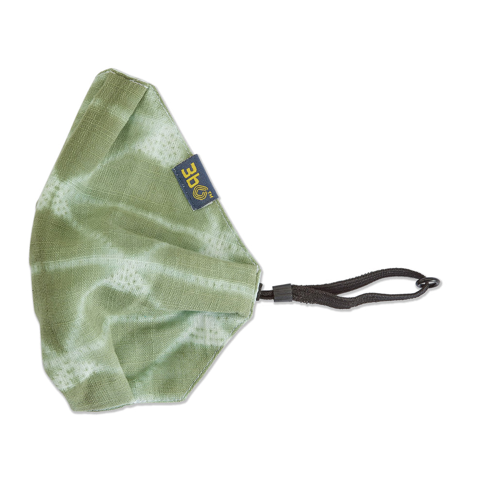 3bO Shibori face mask in Green tie-n-dye fabric - Pack of 1