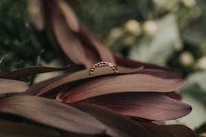 Hammered Dot Arch Ring