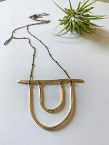 Hammered Arch Necklace