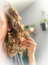 Load image into Gallery viewer, Tribal Moon Earrings