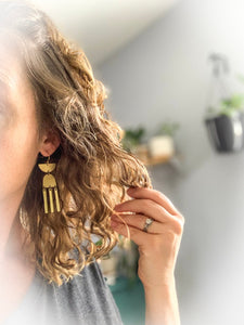 Tribal Moon Earrings