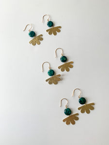 Chrysocolla Daisy Earrings