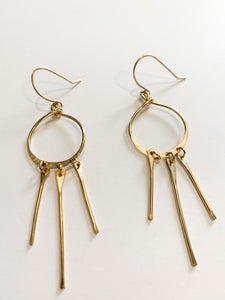 Gold Sunlight Earrings