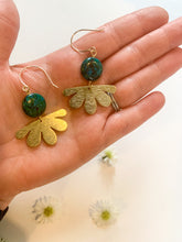 Load image into Gallery viewer, Chrysocolla Daisy Earrings