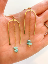 Load image into Gallery viewer, Amazonite Arch Drop Earrings