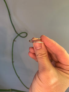Hammered Bar Ring