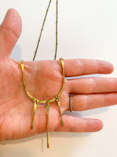 Load image into Gallery viewer, Lines Necklace in Brass