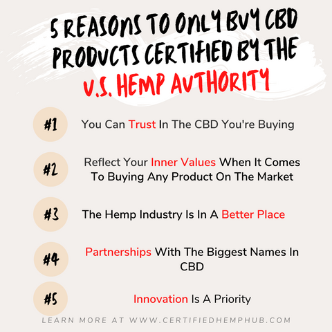 5 reasons why you should only buy CBD if it's been certified by the U.S. Hemp Authority.