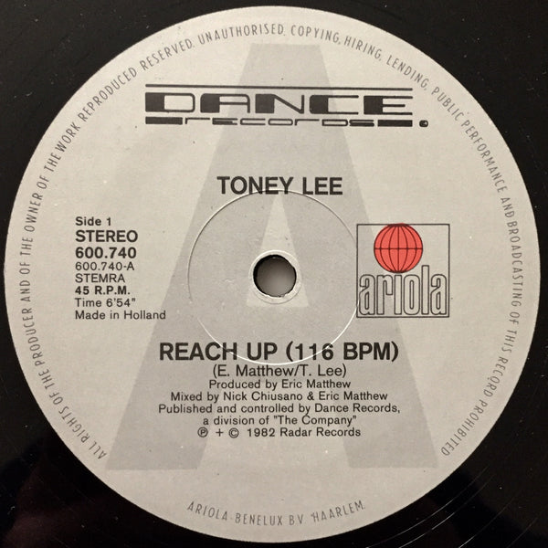 Toney Lee ‎–  Reach Up