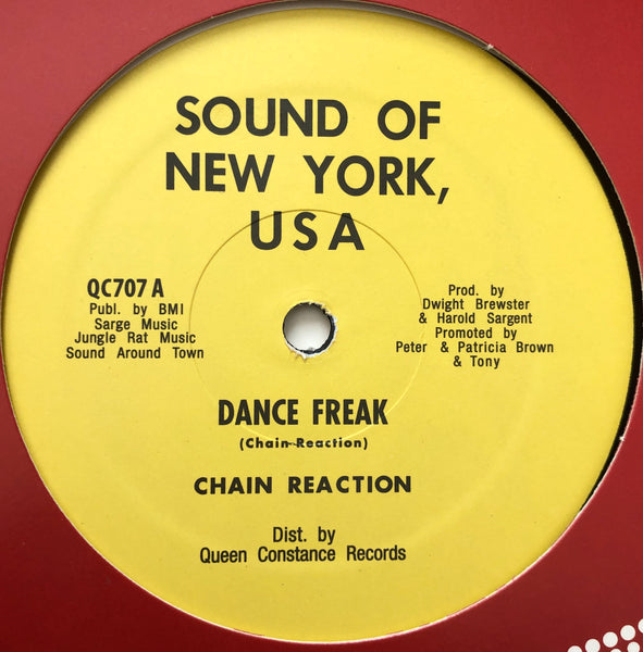 "Chain Reaction ‎– Dance Freak 12"" (Re)"