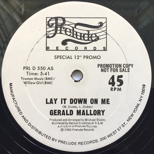 More images  Gerald Mallory – Lay It Down On Me 12""