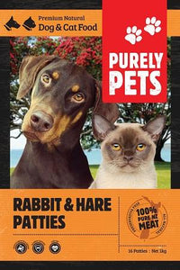Purely Pets Rabbit/Hare Patties