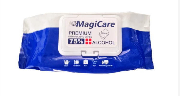 Magicare 75% Alcohol Wet Wipes 50 Count