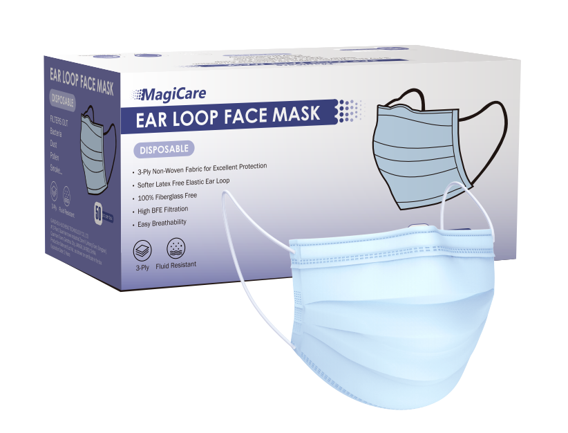 Magicare 3ply Masks - 50 count