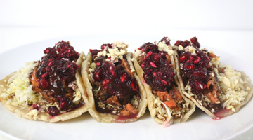 POMEGRANATE BBQ FISH TACOS