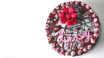 Raw Vegan Pomegranate Peanut Butter Chocolate Chip Birthday Cake