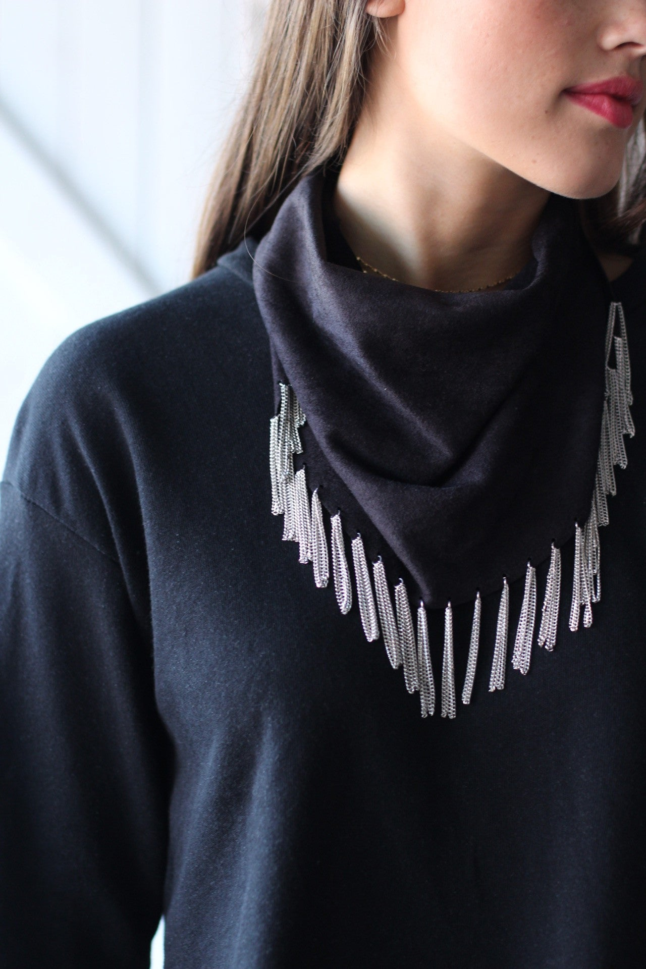 Fringe Feels Neckerchief Black