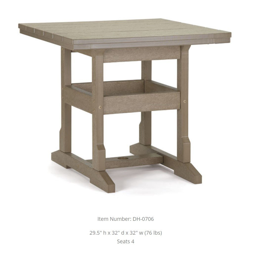 Dining Table - 32 inches Square