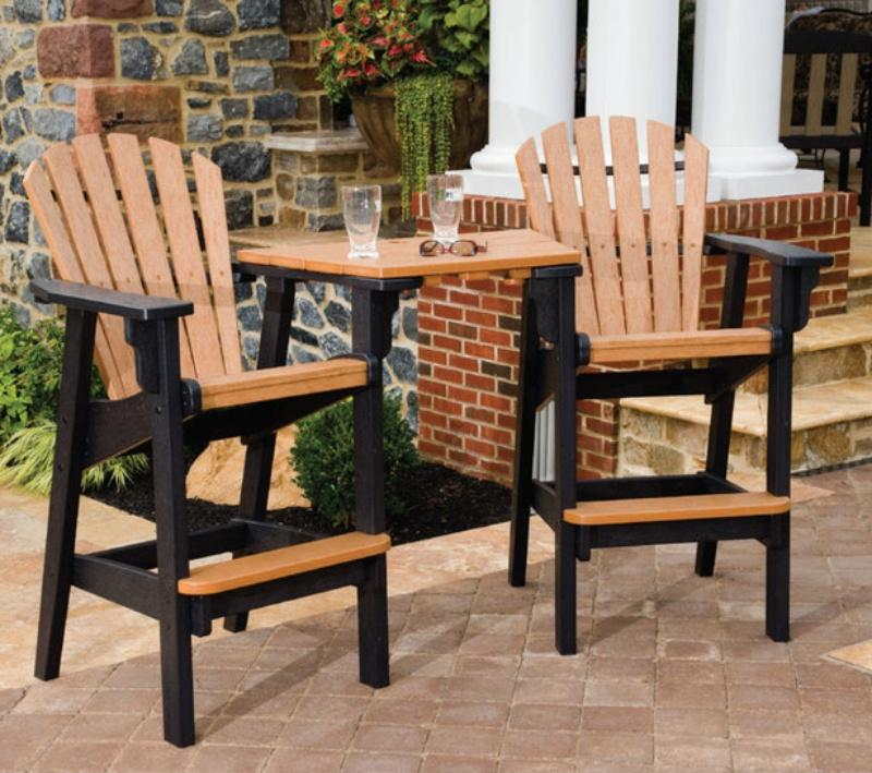 Coastal Bar Height Tete' a Tete' Chair Set - Quick Ship in 3 Colors