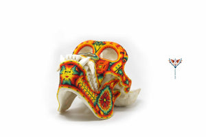 "Hyperrealistic Gorilla Skull real scale ""Watakame"" - contact for price - Huichol Art - Marakame"