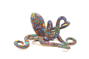 Huichol Squid Art Sculpture - Haramara - Huichol Art - Marakame