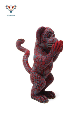"Copal sculpture - ""Red Watakame"" - Huichol Art - Marakame"